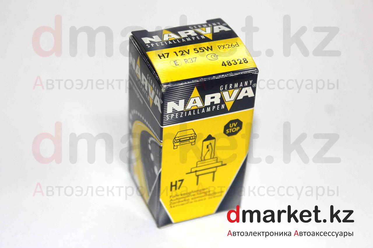 Лампа галогеновая Narva H7, 12V, 55W PX26d