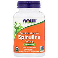 Спирулина NOW Foods 500 мг. 200 таб.
