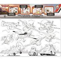 Коврик-раскраска защитный для стола Самолеты Дисней