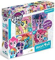 Пазл 4 в 1 My Little Pony Сладкая радость + маркер с блестками