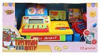 Кассовый аппарат Торговый центр со сканером и набором продуктов, свет, звук