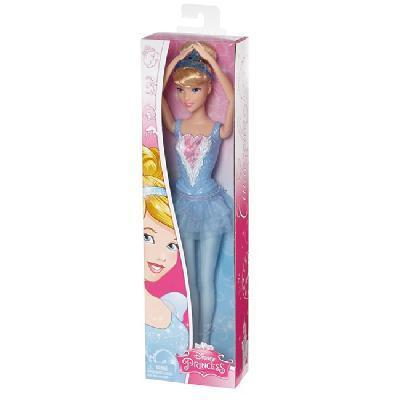 Disney Princess. Кукла-балерина Принцессы Дисней Золушка/Бэлль/Аврора, 3 вида в ассортименте 32,5х9х