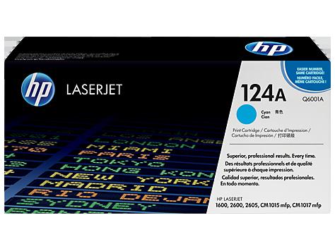 HP Q6001A Картридж лазерный HP 124A голубой, ресурс 2000 стр