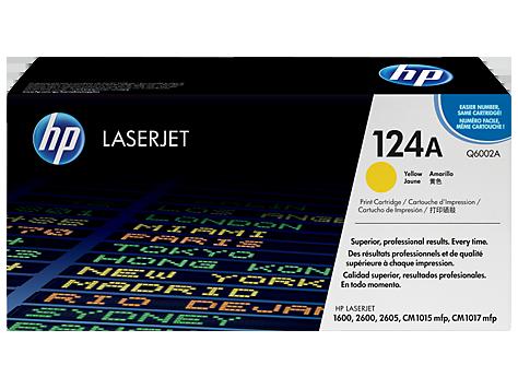 HP Q6002A Картридж лазерный HP 124A желтый, ресурс 2000 стр