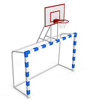Ворота для минифутбола/гандбола 60х60 3х2х1м+баскетбольный щит
