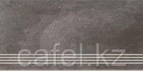 Керамогранит 30х60 - Лофтхаус | Lofthouse темно-серый ступень