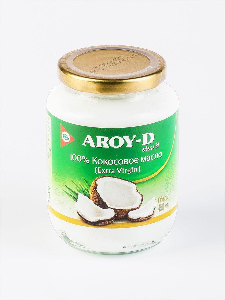 Масло кокосовое(Extra virgin) . AROY-D,450 мл