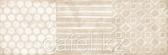 Кафель | Плитка настенная 25х75 Луара | Luara бежевый вставка