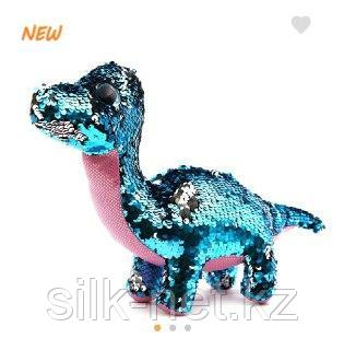 Динозавр с паетками 26 см