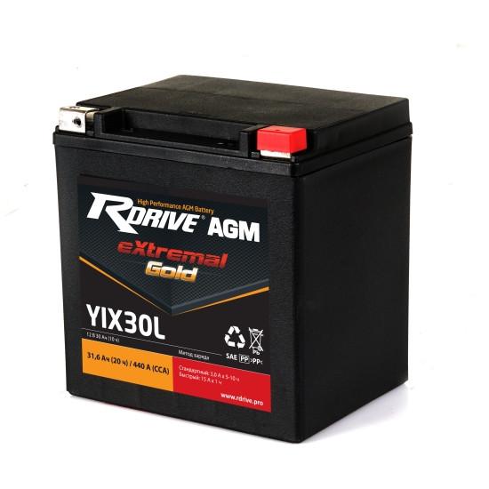 Мотоциклетный аккумулятор RDrive extremal Gold YTX30L