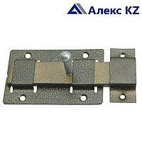 Задвижка дверная ЗД-02 полимер серебро