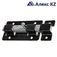 Задвижка дверная ЗД-06 полимер серебро