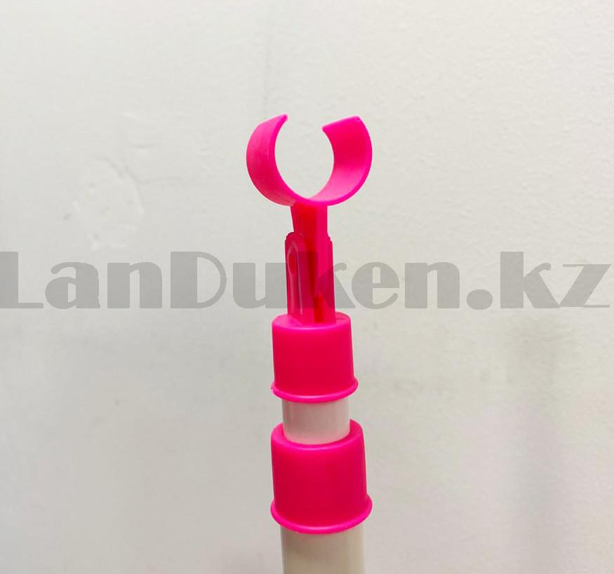 Микрофон детский музыкальный на стойке The super voice с USB-разъемом на батарейках розового цвета - фото 8