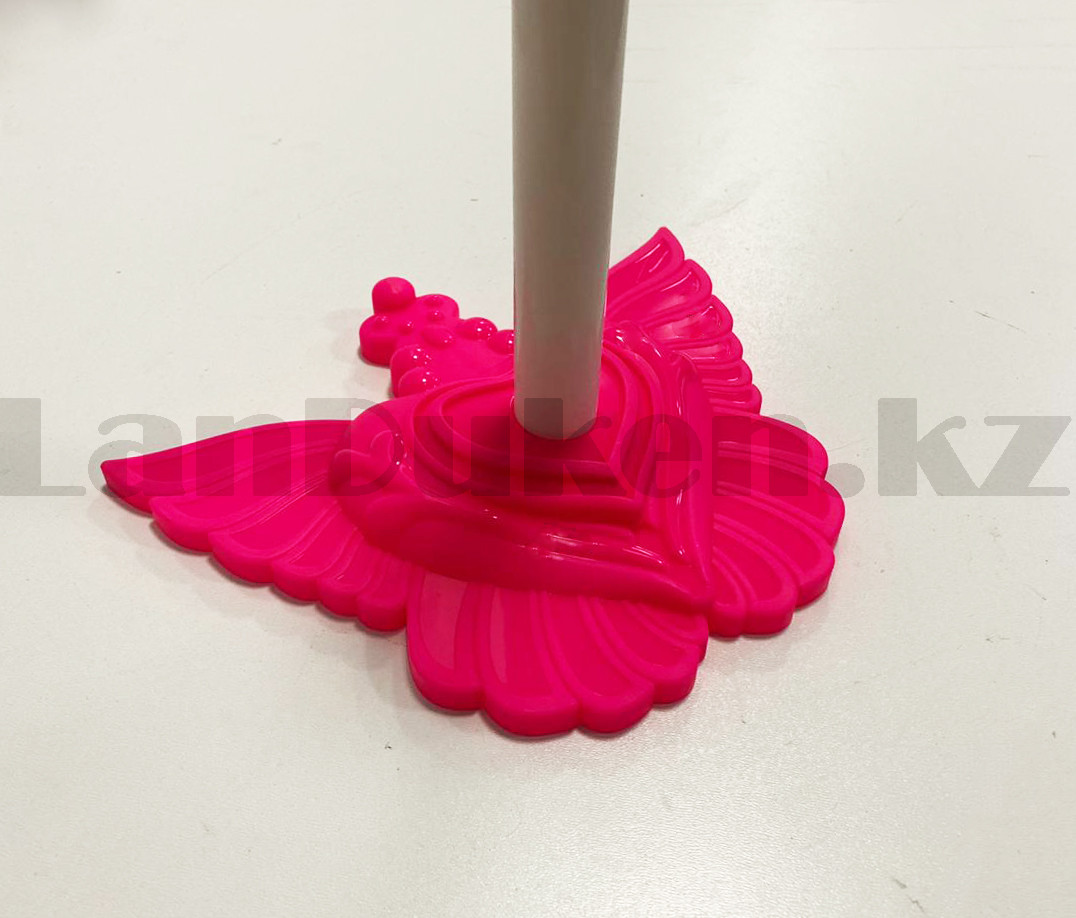 Микрофон детский музыкальный на стойке The super voice с USB-разъемом на батарейках розового цвета - фото 10