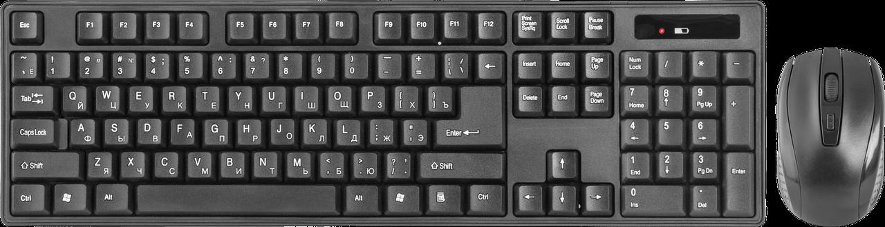 Комплект беспроводной клавиатура+мышь Defender Berkeley C-915 RU (Black)