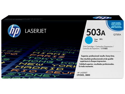 HP Q7581A Картридж лазерный HP 503A голубой, ресурс 6000 стр