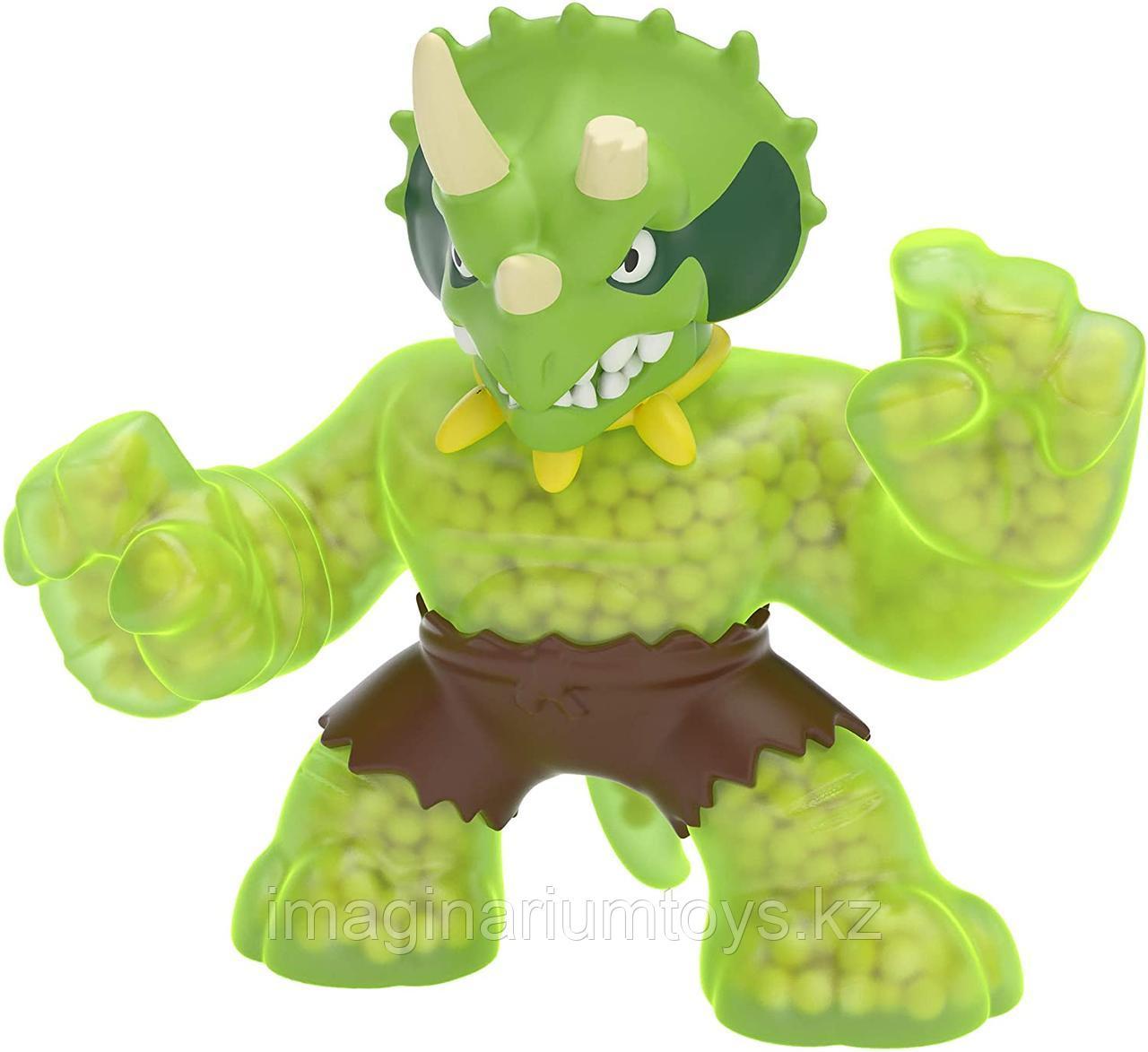 Игрушка Гуджитсу Динозавр Трицератопс тянущийся Goo Jit Zu новый сезон