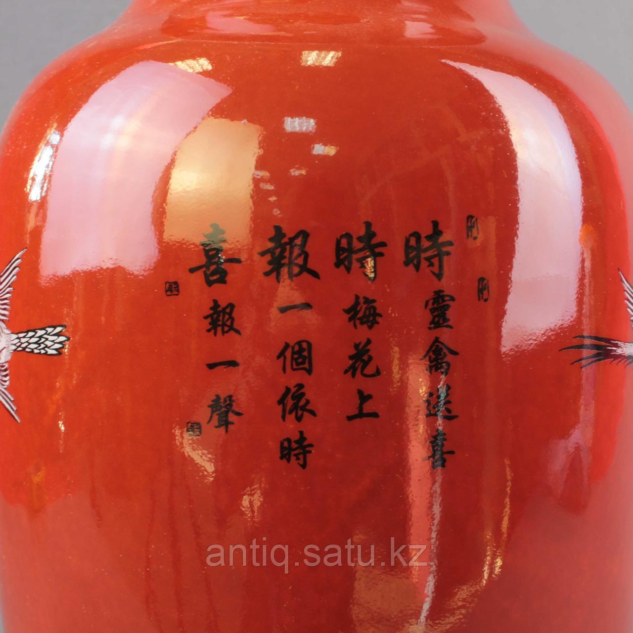 Красные китайские вазы. - фото 3