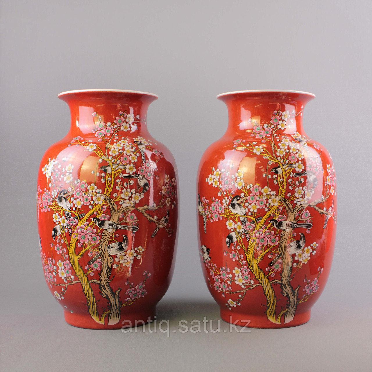 Красные китайские вазы. - фото 8