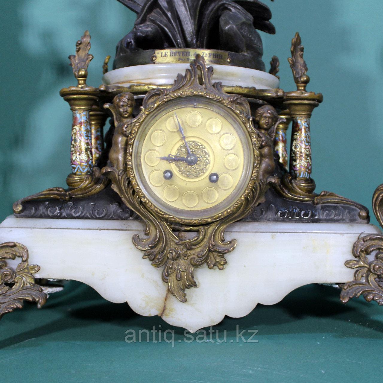 Каминные часы в стиле Историзм Часовая мастерская S. Marti Скульптор Emile Bruchon (1806-1895) - фото 2