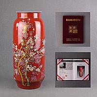 Коллекционные высокие вазы с ручной росписью. (Подарочная коробка)