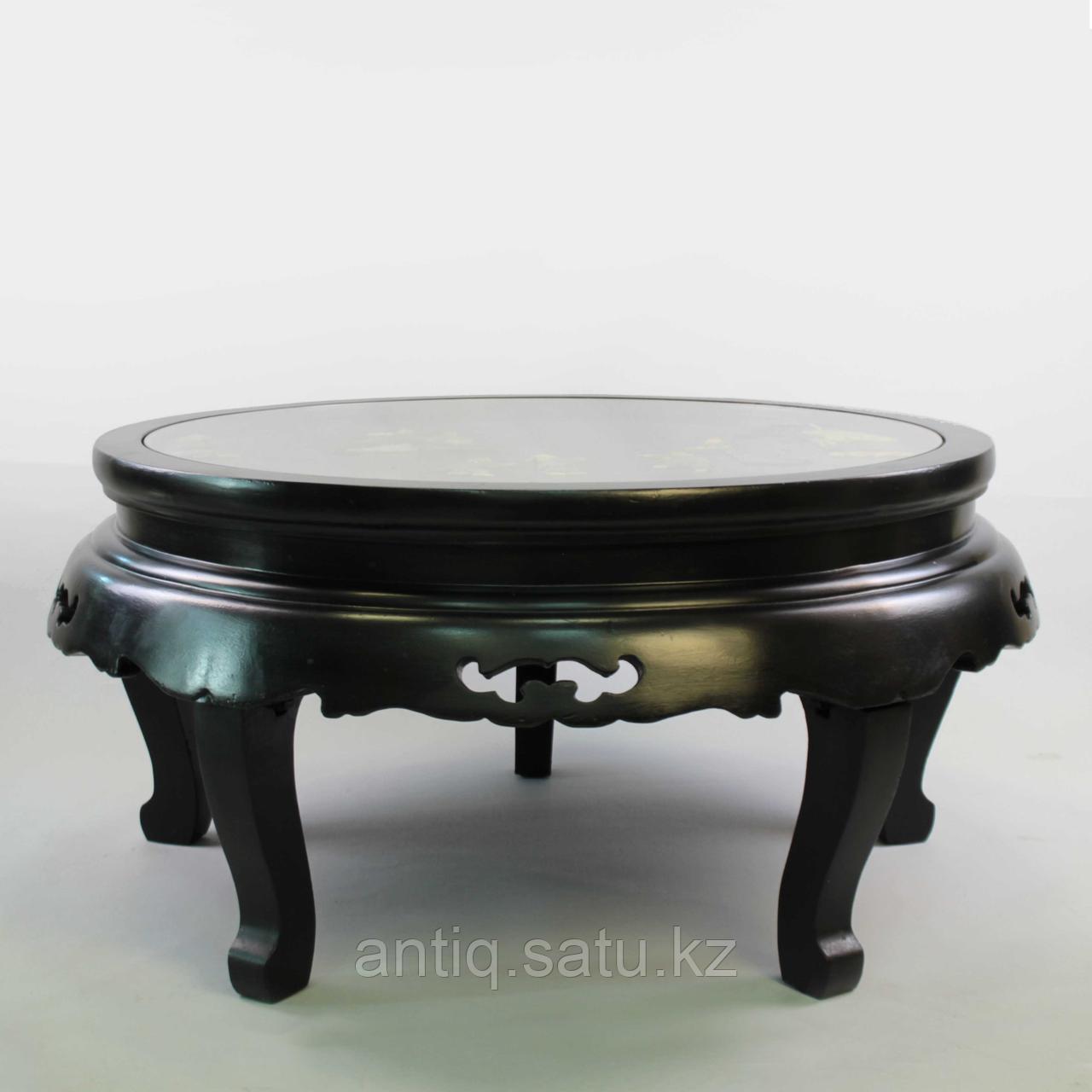 Журнальный столик с натуральными камнями под стеклом. Ручная работа - фото 7