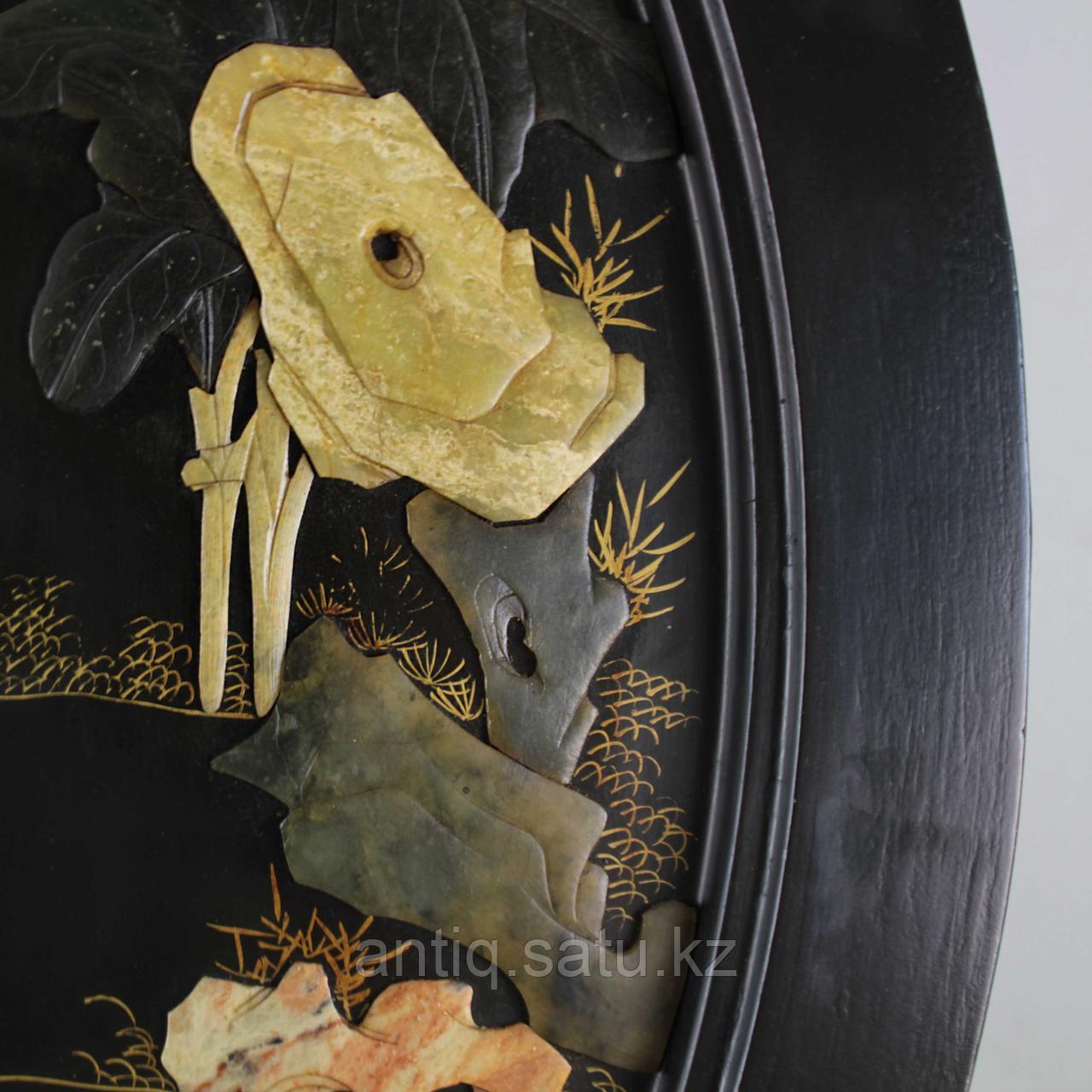 Журнальный столик с натуральными камнями под стеклом. Ручная работа - фото 6