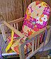 ГНОМ Качели деревянные подвесные мягкое сиденье, фото 4