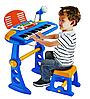 Детский синтезатор с микрофоном 27-3 синий