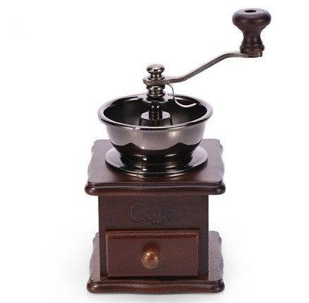 Кофемолка ручная с деревянным ящиком , жерновая, фото 2