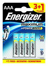 Элемент питания LR03 АAA  Energizer MAXIMUM  Alkaline 3+1 штуки в блистере АКЦИЯ