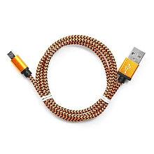 Кабель USB 2.0 Cablexpert CC-mUSB2oe1m, USB-MicroUSB, 1м, нейлоновая оплетка, алюм разъемы, оранжев
