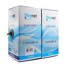 Кабель SkyNet Premium UTP outdoor 4x2x0,51, медный, FLUKE TEST, кат.5e, однож., 305 м, box, черный