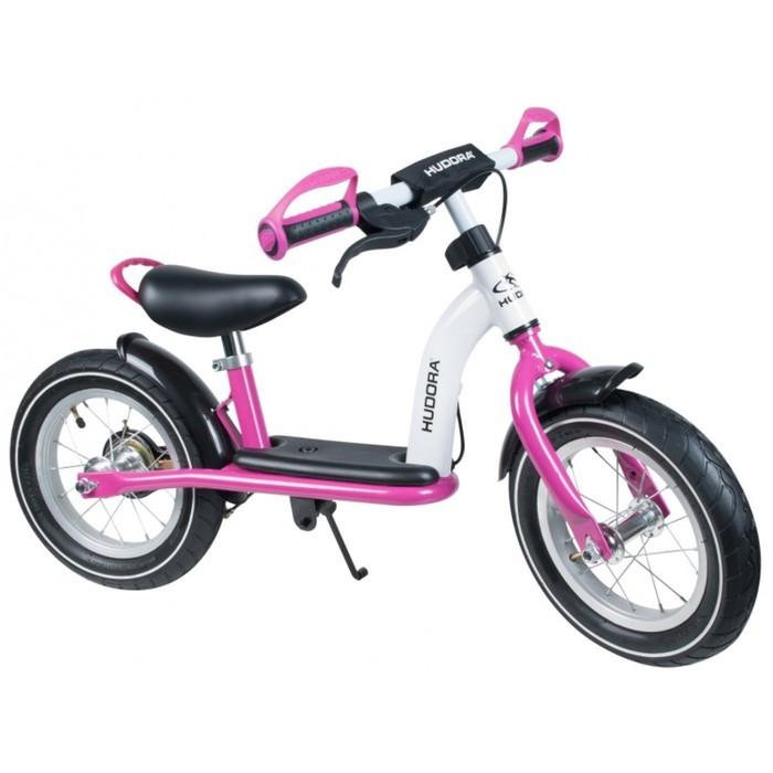 """Беговел 12"""" HUDORA Laufrad Cruiser Girl Alu, цвет бело-розовый"""