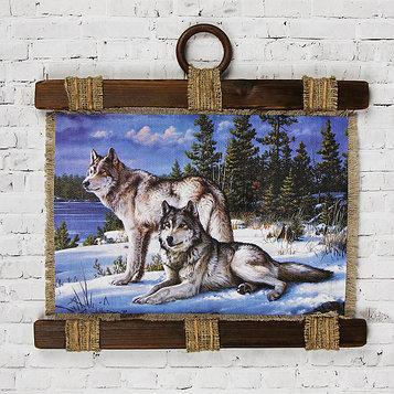 """Сувенир свиток """"Два волка"""""""