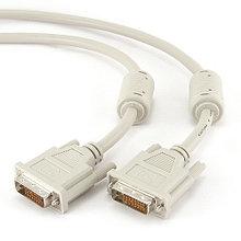 Кабель DVI-D dual link Cablexpert CC-DVI2-10, 25M/25M, 3.0м, экран, феррит.кольца, пакет