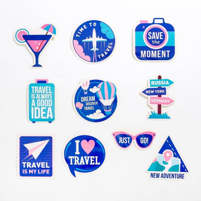 Наклейки на чемодан Time to travel