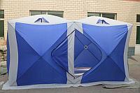 Зимняя палатка куб Traveltop СТ-1621 двойная 200х400х215см