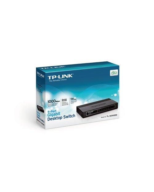 Коммутатор 5-портовый TP-Link TL-SG1005D