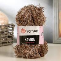 Пряжа 'Samba' 100 полиэстер 150м/100гр (99 бело-коричневый)