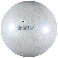 Мяч Pastorelli Glitter HIGH VISION 18 см, цвет серебристый/розовый