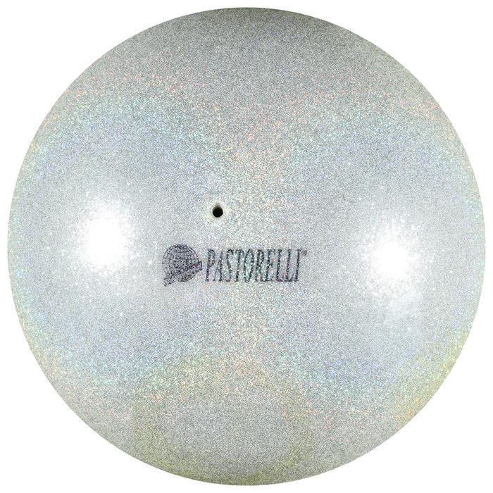 Мяч Pastorelli Glitter HIGH VISION, 4046  серебро/желтый  18 см