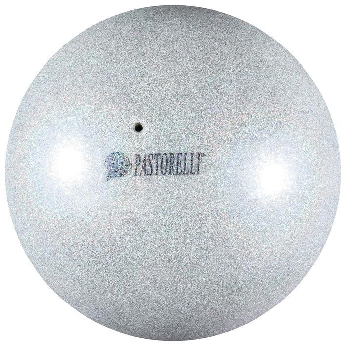Мяч Pastorelli Glitter HIGH VISION, 4042  серебро/розовый 18 см