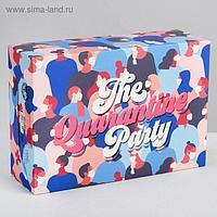 Коробка складная The quarantine party, 16 × 23 × 7.5 см
