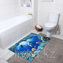 Коврик Доляна «Дельфины», 80×120 см