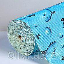 """Коврик для ванной комнаты 1,30х15 м """"Дельфины"""" цвет голубой"""