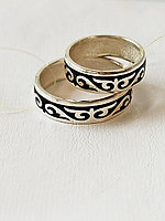 Кольцо обручальное / эмаль, размеры с 16 - 22