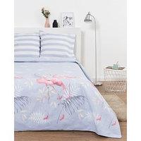 Постельное бельё Евро Эталоника 'Фламинго' 205х217см, 220х240 см, 70х70 см -2 шт,