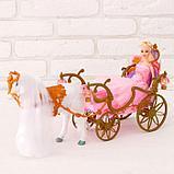 Лошадка ходит с каретой + кукла, световые и звуковые эффекты, фото 3