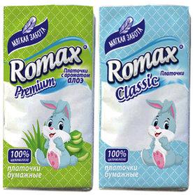 Платочки бумажные Romax 10 шт